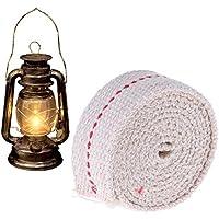 MM456 Mecha para lámpara 3.3 pies, 1 Rollo de algodón Plano lámpara de Aceite Mecha de Alambre para quemadores de Aceite