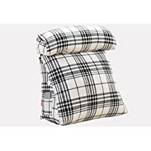 ZXEEEE ~ Moda suave suave Triángulo de ocio cojine Almohada japonesa del triángulo Almohadilla del respaldo de la cama Almohada del sofá de la oficina Almohadón cómodo encantador de la pausa del almuer ( Color : #1 , Tamaño : 45*45*20cm )