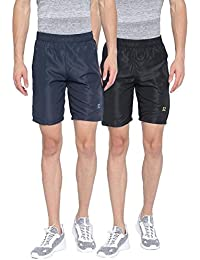 Sports 52 Wear Mens Polyester Pack Of Two Sports Shorts