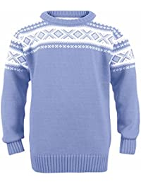 Dale of Norway Cortina - Sudadera Infantil, Infantil, 92991, Blue Shadow/Off White, 12 Años