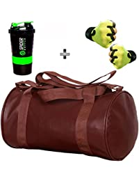 5 O' CLOCK SPORTS Gym Bag Combo Set Enclosed With Soft Leather Gym Bag For Men And Women For Fitness - Bag Size... - B079YJS6QB