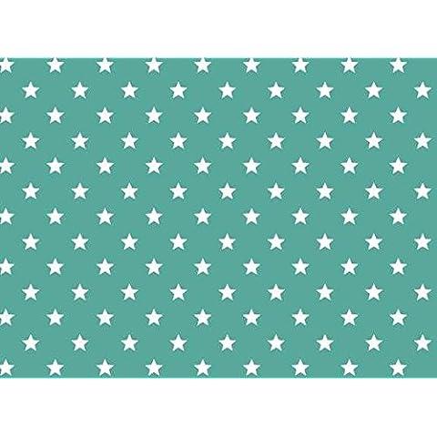 Alkor - Lámina adhesiva (vinilo, 45 cm x 2 m, diseño de estrellas), turquesa