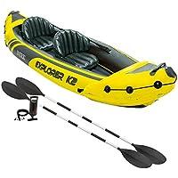 Intex - Kayak hinchable Explorer K2 y 2 remos - 312 x 91 x 51 cm (68307) (modelo variable según imagen)
