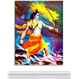 Tamatina Canvas Paintings - Jai Sri Ram - Lord Ram Paintings - Modern Art Paintings - Paintings For Drawing Room - Paintings For Home Décor - Paintings For Bedroom - Paintings For Living Room - Religious Canvas Paintings - Hindu Paintings For Wall