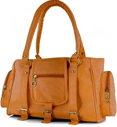 Dakshinkala Women,s Handbag ( 3 buckle,43x23x10 CM) (Musturd)