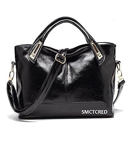 Vintage fashion Genuine ncient ways oil wax PU leather Soft Leather Tote Shoulder Bag Leather Satchel Briefcase Handbag Hand Bag Bags Purse Tablet, iPad