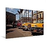 Premium Textil-Leinwand 120 cm x 80 cm quer, US Oldtimer on Havanna, Kuba | Wandbild, Bild auf Keilrahmen, Fertigbild auf echter Leinwand, Leinwanddruck (CALVENDO Orte)