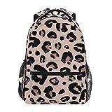Rosa schwarz Leopard Schulrucksack für Jungen mädchen Kinder Reisetasche Bookbag
