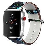 MEBUYZ Kompatibel mit Apple Watch Armband 38mm, Smart Watch Armband Lederband Armband aus Faux Leder...
