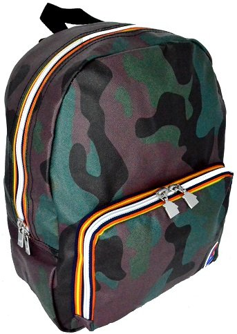 Borsa Zaino Uomo Donna K-Way Backpack Men Woman k1A04 (camouflage)