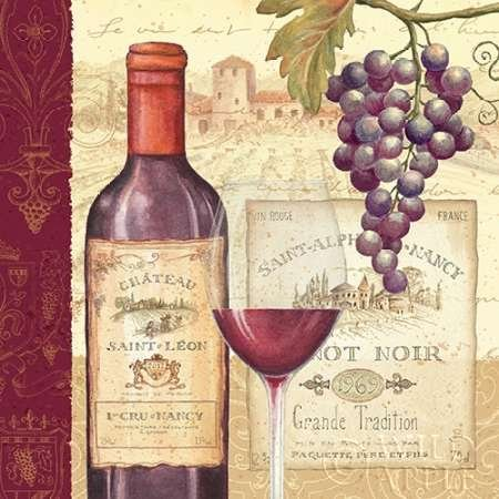 Vin Tradition I par Brissonnet, Daphné – Fine Art Print Disponible sur papier et toile, Toile, SMALL (12 x 12 Inches )