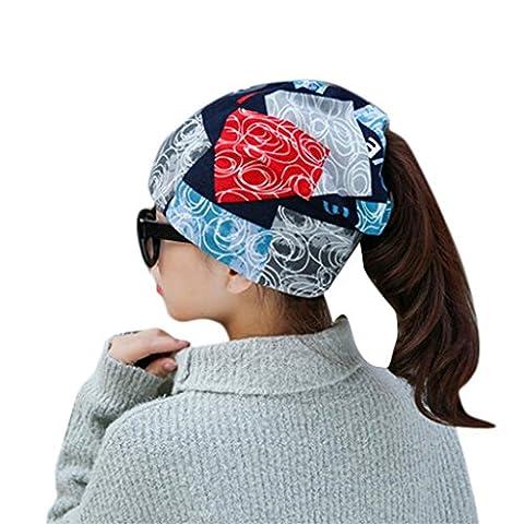 Omiky® - Ensemble bonnet, écharpe et gants - Femme - multicolore - taille libre