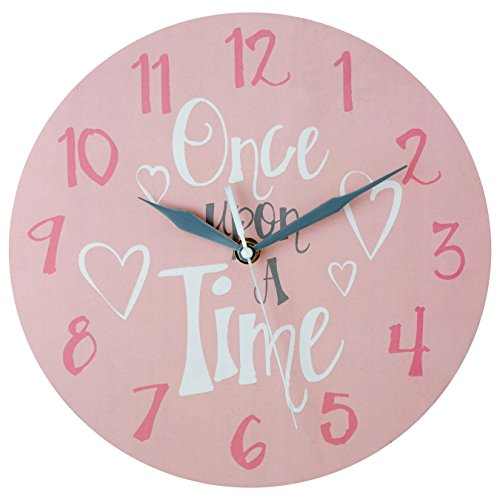 Premier Housewares Once Upon A Time Kids Wall Clock - Pink