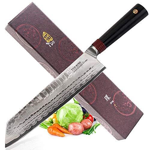 RING D Clever knife 8.5'- Acero Inoxidable Japonés AUS-10 Premium en Carbono de...