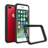 iPhone 8 Plus Slim Bumper Case [Crashguard] Shock Absorbent Minimalist Design Protective Cover [3.5 Meter Drop Protection] Also fits iPhone 7 Plus - Black