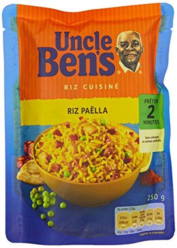 Uncle Ben's Riz Paella Pochon 250 g - Lot de 6