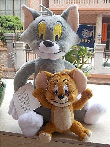 Tom and Jerry Plush Tom 11 & Jerry 5.5 Doll Stuffed Animals Figure Soft Anime Collection Toy by Latim