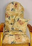Auflage / Polster für Schaukelstuhl , Liegestuhl , Ersatzpolster Gr. 130 x 50 x 12 cm + Zierkissen 40 x 40 cm Stoff Stoff Loneta Nr. 324