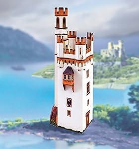 "aue-verlag 12x 7x 31cm Kit de modelo ""Ratón Tower Bingen a Rhein"