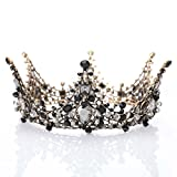 Jovono Hochzeit Vintage-Krone Diadem Prinzessin Haarband Barock für Frauen Abschlussball