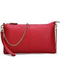 TOYOOSKY Bolso pequeño de la cadena Bolso de cuero pequeño Diagonal Cross bolso Bolso de mano bolso de piel bolso de moda para la mayoría de las ocasiones(opción de 2 colores)