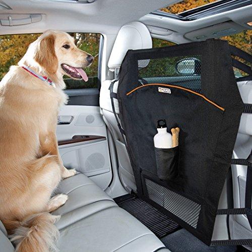 Kurgo Rücksitz Barriere für Hunde, Geeignet für die meisten Autos und SUVs, Schwarz, Backseat Barrier, 00006
