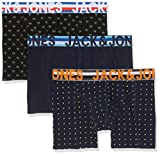 JACK & JONES Herren Boxershorts JACHENRIK Trunks 3 Pack NOOS, Mehrfarbig (Black Detail Navy Blazer), Large
