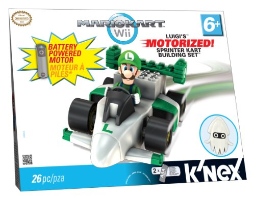K'nex - 38063 - Mario Kart Wii - Luigi und Sprinter Kart Building Set - mit Motor - 26 Teile (Luigi Kart Knex)