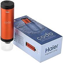 Haier Codo - Mini lavadora portátil, Máquina de lavado de manos para limpiar las manchas de la ropa (Naranja)