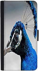 Snoogg Blue Peacock Designer Protective Phone Flip Back Case Cover For Lenovo Vibe K4 Note