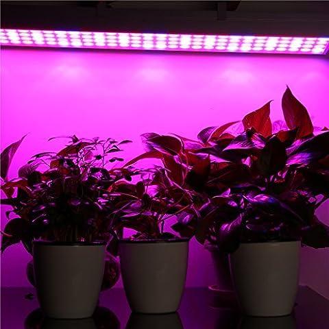 Floureon 60W LED Lampe de Plante Lampe de Croissance Eclairage Panneau Lampe Horticole pour Légumes Hydroponique Fleur Plante Serre Garden Plantes d'Intérieur AC85-264V UE(80 Rouge 32 Blue)