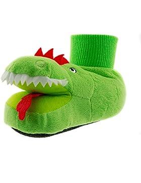 Beppi 2144430 - Zapatillas de Estar por casa de Fieltro para niño Verde Verde