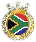 South Africa Flag Crown Frame Pegatina de Vinilo Para la Decoracion del Vehiculo 10 X 12 cm - Mozaika - amazon.es