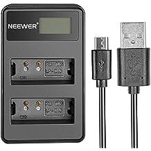 Neewer reg Cargador USB Dual con exhibición de LED 5V/2A entrada para batería Canon LP-E10 recargable adecuada para Canon EOS Rebel T3 T5 T6 Kiss X50 Kiss X70 EOS 1100 D EOS 1200 D EOS D 1300 Cámara Digital
