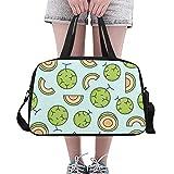 Zemivs Melone Cantaloupe Cute Large Yoga Gym Totes Fitness Handtaschen Reise Seesäcke Schultergurt...
