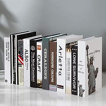 Sqbjshaop Decorazione Semplicità Moderna Libro Finto Libro Di
