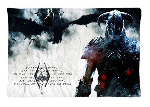 Generic Video Games Dragons The Elder Scrolls Posters Hero Pattern Custom Pilow Cover Pillowcase