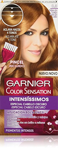 Garnier Color Sensation coloración permanente e intensa reutilizable con  bol y pincel - Tono  C3 0ff890f64e16