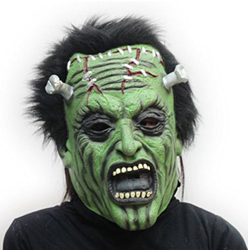 Halloween Horror Adult Latex Ghost Face Ghost Skeleton Ball Party Stützen Zombies Hulk (Zombie Face Ghost)