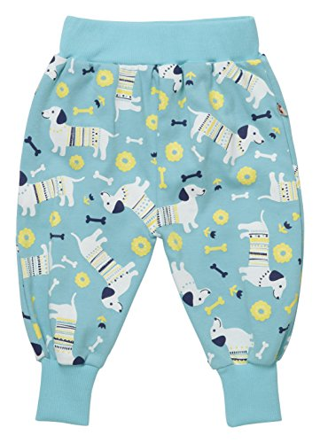Piccalilly Organic Cotton Blue Girls Sausage Dog Print Trousers