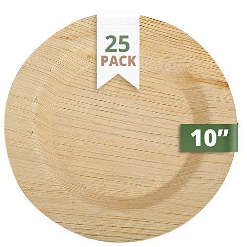 CaterEco 25 Deluxe Palmblatt Einwegteller, 25 cms   kompostierbares Einweggeschirr für Hochzeit, Büro und Festen   Bio Einweggeschirr biologisch abbaubar Partygeschirr Einmalgeschirr Wegwerfgeschirr