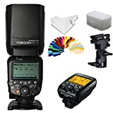 YONGNUO YN600EX-RT II Flash Speedlite TTL HSS 1/8000s Optical Control +YNE3-RT Flash Controller for Canon Cameras +INSEESI Clean Cloth+Flash Diffuser+B Type Flash Swivel Bracket +20 Color Gels
