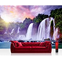 Non-woven Photographic Wallpaper 350x245cm–Top Quality–Premium Plus Photo Wallpaper Wall Picture XXL Decorative Wall Picture Wall Mural Photo Wallpaper Waterfall Trees Forest–No. 247 preiswert
