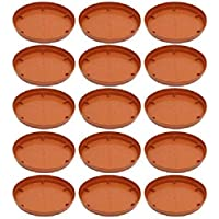 ANTIER Flower Pot Plant Saucer Base Plate Tray, 9 inch - Set of 15