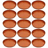 Flower Pot Plant Saucer Base Plate Planter Tray 9 inch Terracotta (Set of 15 Plant ContainerÊSet