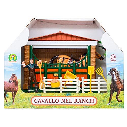 Mazzeo Giocattoli Cavallo Giocattolo nel Ranch