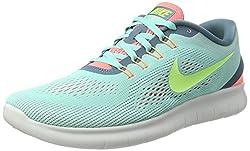 Nike Damen Free RN Laufschuhe Türkis (Hyper Turquoise/Lava Glow/Smokey Blue/Ghost Green) 41 EU