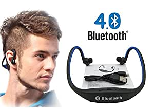 Link Plus In Ear Neckband Bluetooth Headphone With Mic,Sd Card Slot Assorted Color For Moto E (2nd Gen)