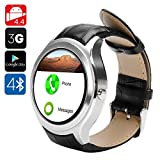 NO.1 D5 Android Smart Watch - 3G SIM, BT4.0, Wi-Fi, Google Play, Pedometer, Heart Rate, GPS, Barometer (Silver)