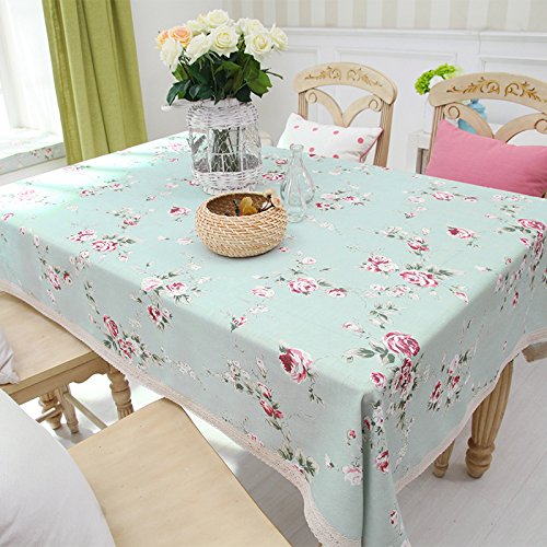 Wfljl tovaglia agriturismo stile biancheria da tavola caffè rettangolo di panno di copertura 220 * 140cm